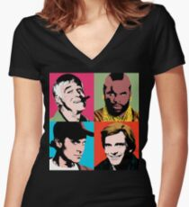 The A-Warhol Team Women's Fitted V-Neck T-Shirt