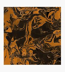 Dark brown marble texture. Photographic Print