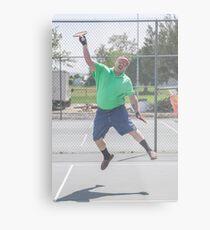 "The Funny Stepdad ""Tennis Legend"" Metal Print"