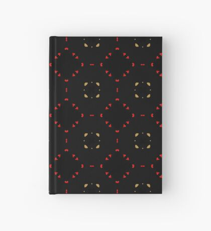 Red and Taupe Small Pattern by Julie Everhart Hardcover Journal