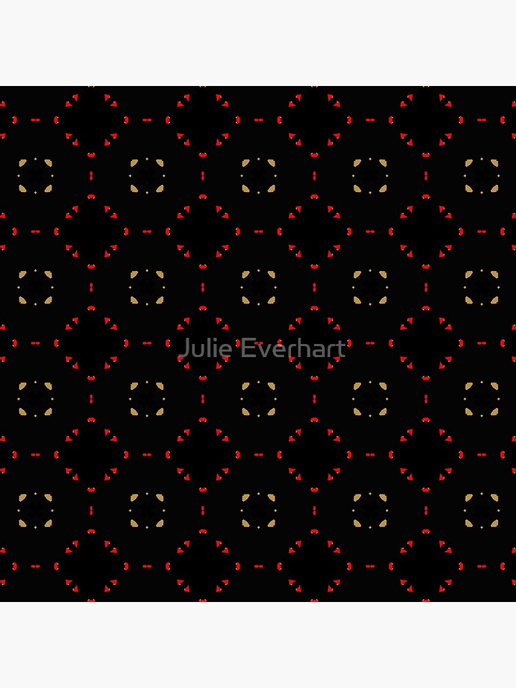 Red and Taupe Small Pattern by Julie Everhart by julev69