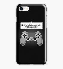 Videogames relationship status iPhone Case/Skin