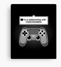 Videogames relationship status Canvas Print