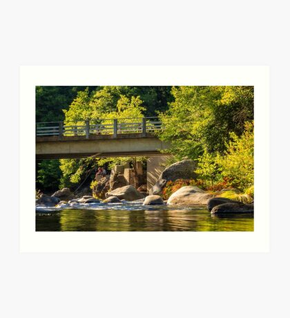 Fishing In Deer Creek Art Print