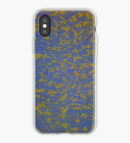 Frost on the Front Walk - Blue iPhone Case