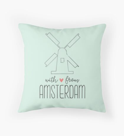 With Love from Amsterdam Throw Pillow
