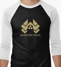 A distressed version of the Nakatomi Plaza symbol Men's Baseball ¾ T-Shirt