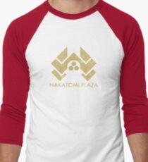 A distressed version of the Nakatomi Plaza symbol Men's Baseball ¾ T-Shirt