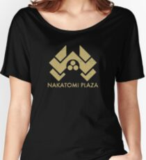 A distressed version of the Nakatomi Plaza symbol Women's Relaxed Fit T-Shirt