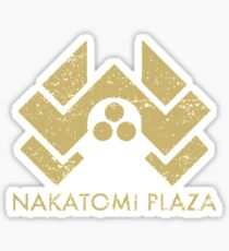 A distressed version of the Nakatomi Plaza symbol Sticker