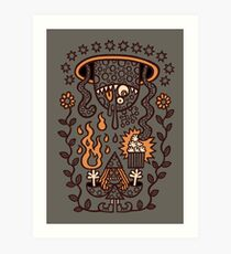 Grand Magus Summons Entity With Dark Popcorn Power Art Print