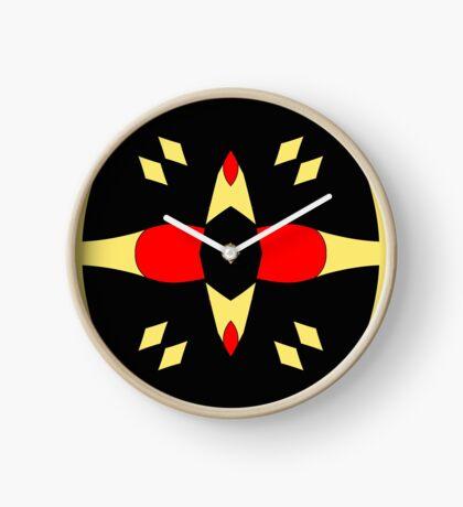 Flower of Gold 3 by Julie Everhart Clock