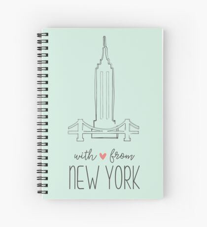 With Love from New York Spiral Notebook