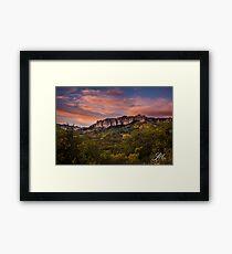 Ridgway Sunset Framed Print