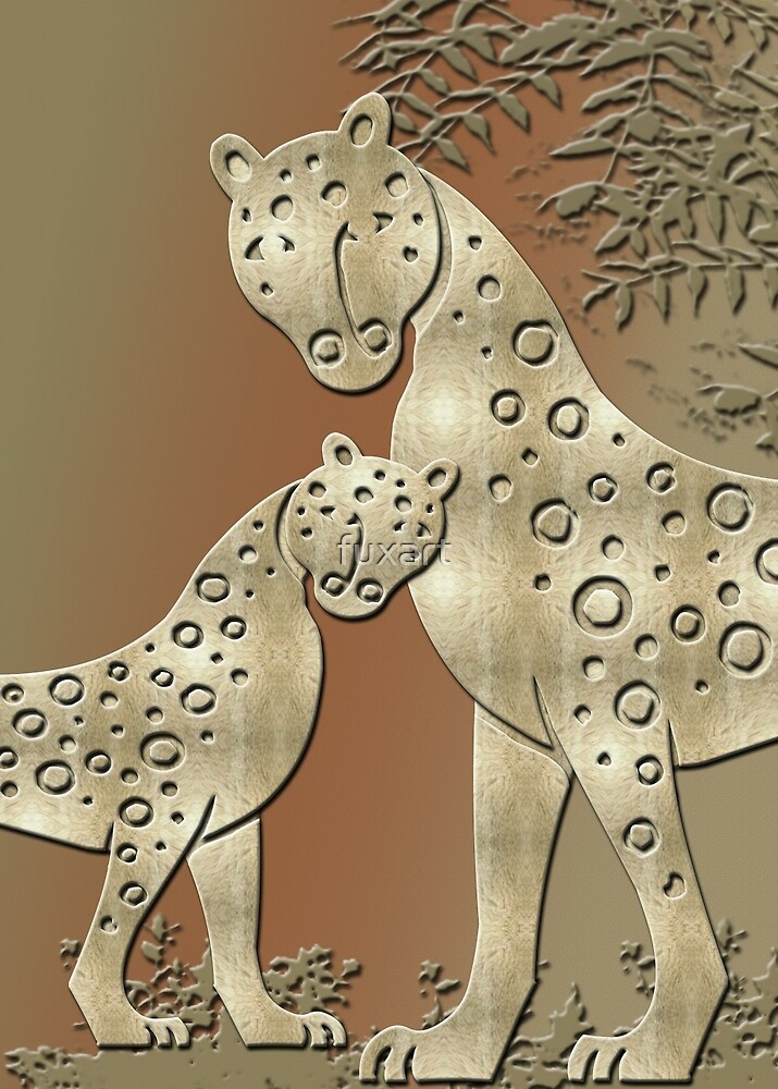 Cheetah Family by fuxart