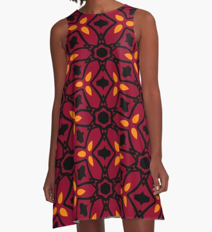 Burnt Orange and Peach by Julie Everhart A-Line Dress