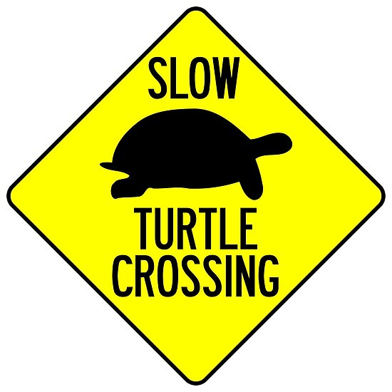 Slow Turtle Crossing >> Slow Turtle Crossing Poster By Limitlezz Redbubble