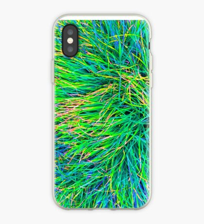 A Swirl of Grass - Green & Blue iPhone Case
