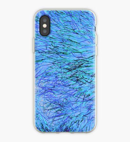 A Swirl of Grass - Blue iPhone Case