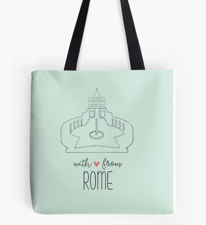 With Love from Rome Tote Bag