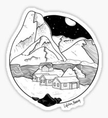 Norway - Lofoten landscape Sticker
