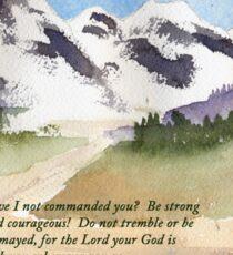 Courage - Joshua 1:9 Sticker