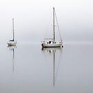 Misty Boats by Grant Glendinning