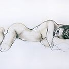 Reclining Female Nude by Roz McQuillan