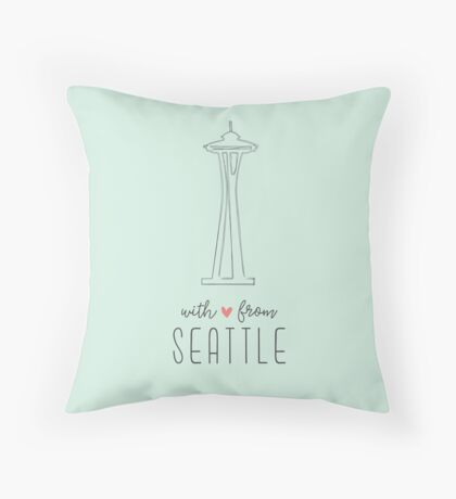 With Love from Seattle Throw Pillow