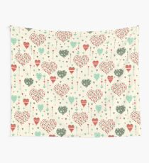 Romantic hearts Wall Tapestry