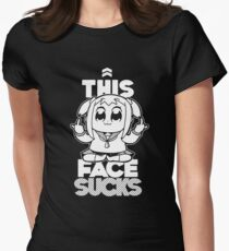 THIS FACE SUCKS Womens Fitted T-Shirt