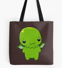 chibi cthulhu - the green monster Tote Bag