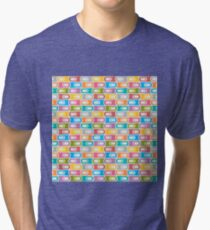 Abstract Colorful Decorative Pattern Tri-blend T-Shirt