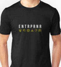 ENTRPRNR - Entrepreneur Quote (with icons) Unisex T-Shirt