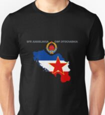 SFR Yugoslavia - Map - Emblem - Flag Unisex T-Shirt