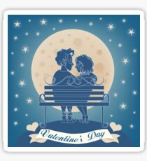 Couple_On_Bench Sticker