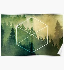 Forest Trees - Geometric Nature Element of Earth Poster