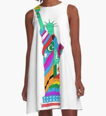 Freiheit für alle A-Linien Kleid