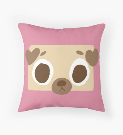 In pug we trust Throw Pillow