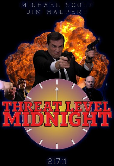 Quot Threat Level Midnight Poster Quot Poster By Rv0710 Redbubble
