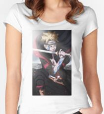 Boruto Son of Naruto Women's Fitted Scoop T-Shirt