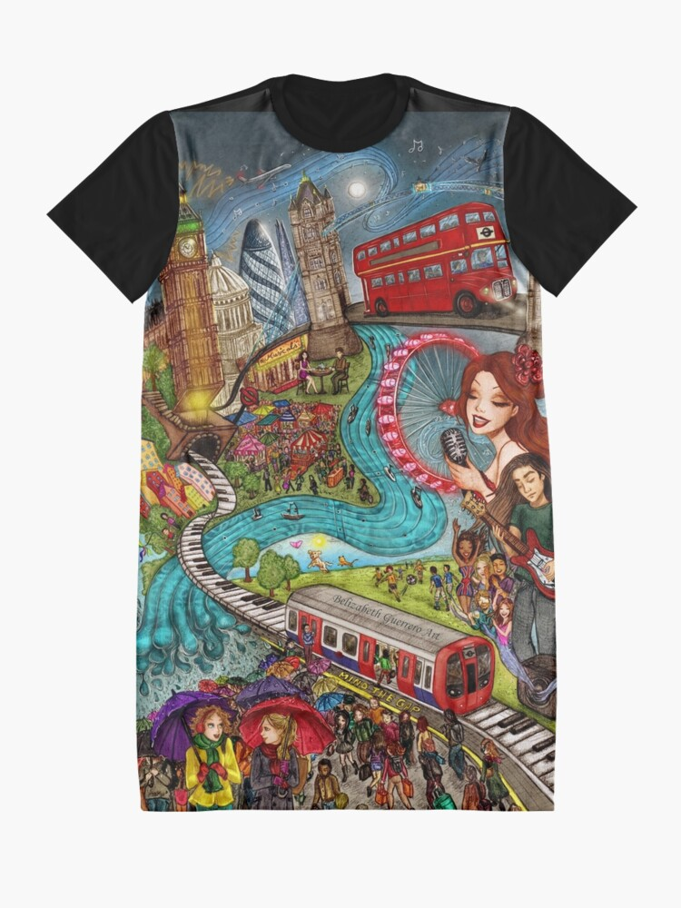 Alternate view of Sounds of London Graphic T-Shirt Dress