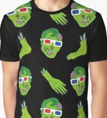 Hipster Zombie Now in 3D Dismembered  Graphic T-Shirt