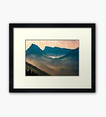 Mountains and Forest - Valley Sunset Framed Print