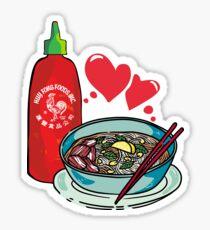 Pho & Sriracha Love Sticker
