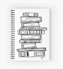 Stack of Books Spiral Notebook