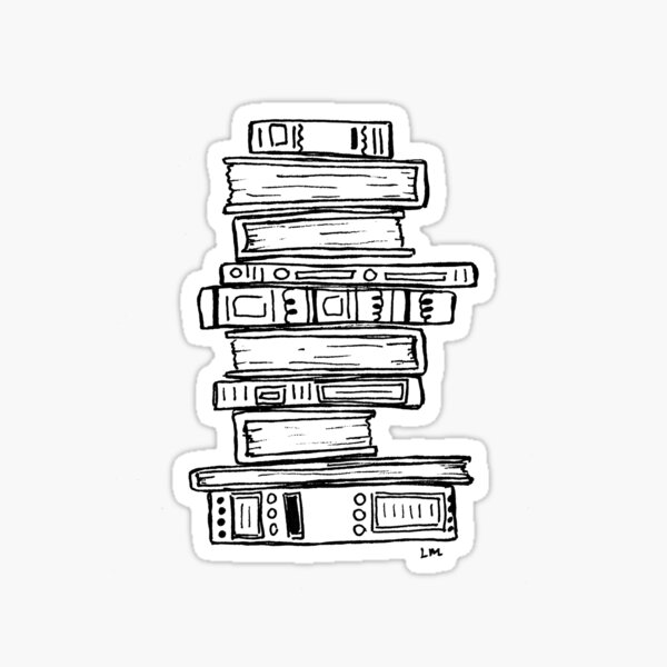 Stack of Books Sticker