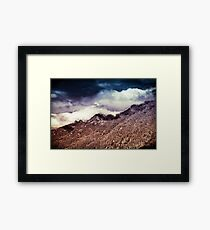 Mountains and Forest - Vintage Cascade Mountains Framed Print