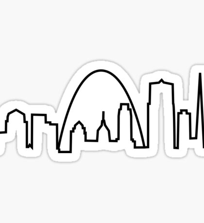 St. Louis City Skyline Sticker