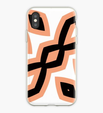Peach and Black by Julie Everhart iPhone Case